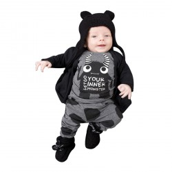 Baby Boys 2pcs Long Sleeve Tops Sweatsuit Pants Leggings Outfit Set