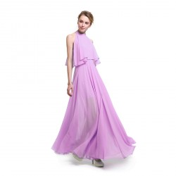 Women's A-shaped Chiffon Sleeveless Split Ends Summer Dresses