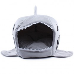 2017 2 Dimensione Pet Products Warm Soft Dog House Pet Dormire Bag Shark Dog Kennel Cat Bed Cat House Cama Perro