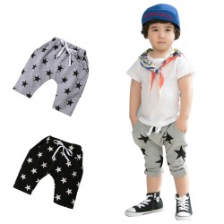 Toddler Baby Unisex Lace up Star Pattern Jogger Pants