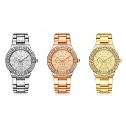Classic Luxury Women's Watch With Crystal And Diamond