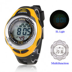 Cinturino in silicone multifunzione digitale El Light Digital Sport Watch