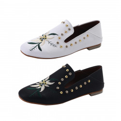 Chic Slip On Classic Casual Loafers Womens Breathable Flat Footwear