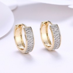 18K Gold Plated Hoop Earrings Wedding Gold Jewellery with Lighting Box